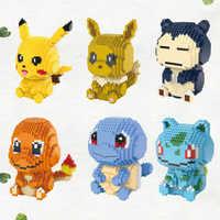 Blocs de diamants magiques HC Mewtwo eeve jouets de construction dessin animé Bulbasaur Micro briques Charmander Anime jouets chiffres d'enchères 9100