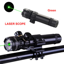 Laser Pointer Green / Red Dot Tactical Hunting Rifle Gun Laser Outside Laser Scope Sight High Power Pressure Switch Green Lazer 4 12x50eg tactical rifle scope with holographic 4 reticle sight