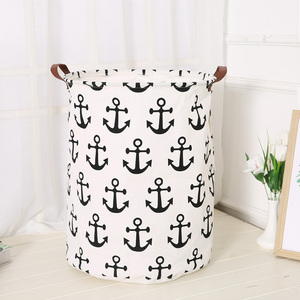 Laundry Basket Dirty Clothes Basket Children'S Toy Receiving Barrel Nordic Home Cloth Art Leather Handle Dirty Clothes Basket|Laundry Baskets| |  -