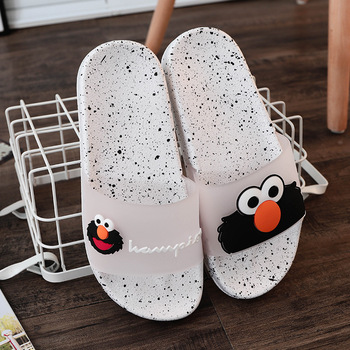 Women Summer Slippers Cute Cartoon Slides Cute Slippers Women Summer Shoes Outdoor Beach Slippers Anti-Skidding Lover's Shoes 2020 summer cool rhinestones slippers for male gold black loafers half slippers anti slip men casual shoes flats slippers wolf