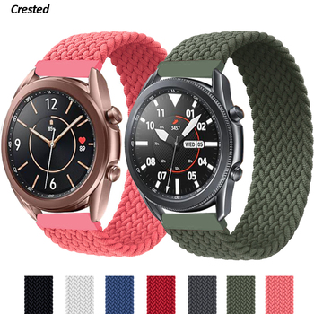 20mm 22mm Braided Solo Loop Strap for Samsung Galaxy watch 3/46mm/42mm/active 2/Gear S3 bracelet Huawei watch GT/2/2e/Pro Band 22mm watch strap 20mm band for samsung galaxy watch 46mm 42mm active 2 gear s3 frontier leather watchband for huawei watch gt 2e