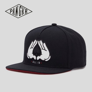 PANGKB Brand ALL IN CAP Brooklyn black cotton hip hop snapback hat for men women adult outdoor casual sun baseball cap bone
