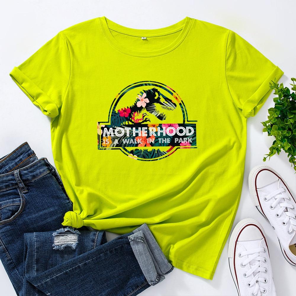 Hb3baacf7699d4c5c9abca15de4b6a1072 JFUNCY Casual Cotton T-shirt Women T Shirt Motherhood Letter Printed T-shirt Oversized Woman Harajuku Graphic Tees Tops New 2021
