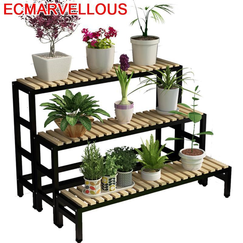 Para Plantas Wood Terraza Varanda Etagere Pour Plante Rak Bunga Rack Shelf Outdoor Flower Stojak Na Kwiaty Plant Stand