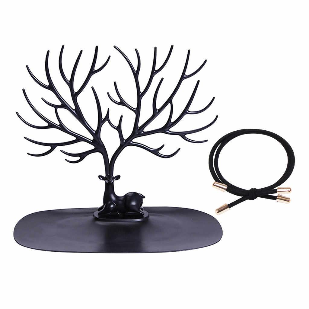 Petit cerf boucles d'oreilles collier anneau pendentif Bracelet bijoux présentoir plateau supports de rangement support organisateur en gros # B10