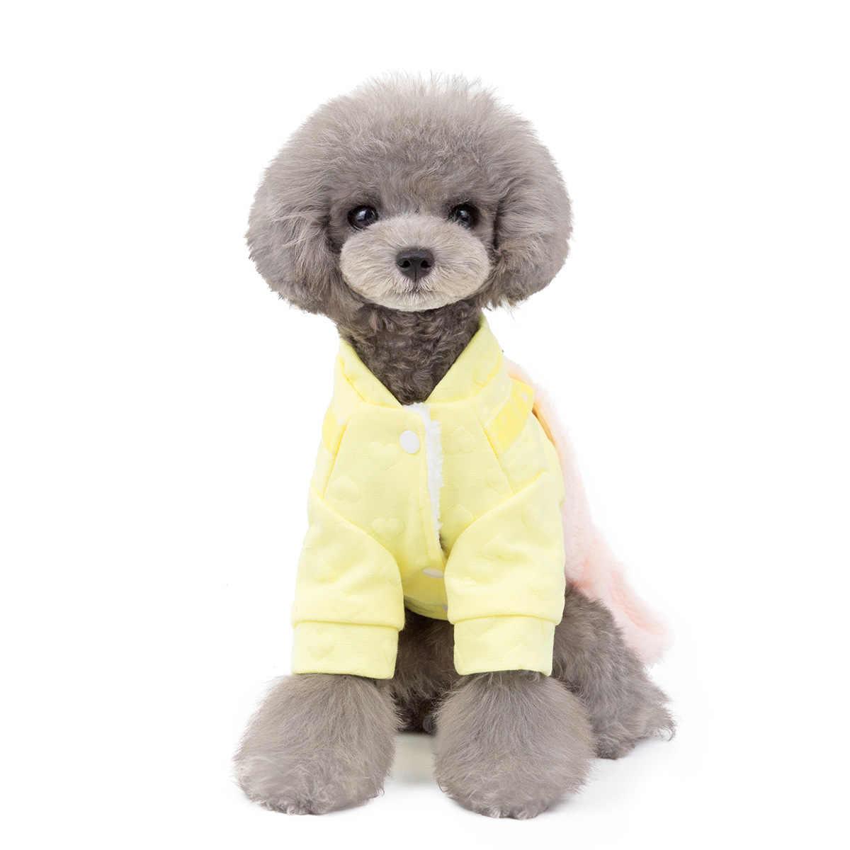 2019 japoński koreański Pet jesienią i zimą w nowym stylu odzież dla psów Teddy Bichon Cute princeska