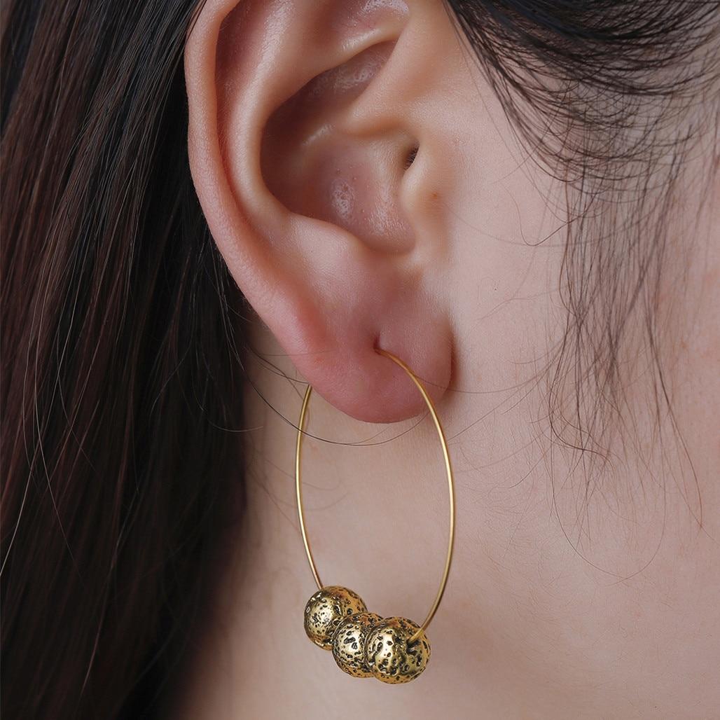 Qiming Handmade Large Hoop Earrings