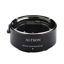 Altson 렌즈 마운트 어댑터 링 nikon z6/z7 z 마운트 카메라에 캐논 ef/EF S 렌즈 용 고속 자동 초점 안정화 usb