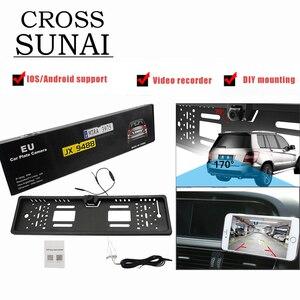Image 1 - Автомобильный видеорегистратор с HD камерой, рамка для номерного знака ЕС, Wi Fi, дублирующая для парковки заднего вида, камера заднего вида, автомобильная камера безопасности с ночным видением