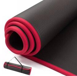 Коврик для йоги, антискользящий, очень толстый 10мм, 183смх61см, для йоги, фитнеса, тренажерного зала, пилатеса