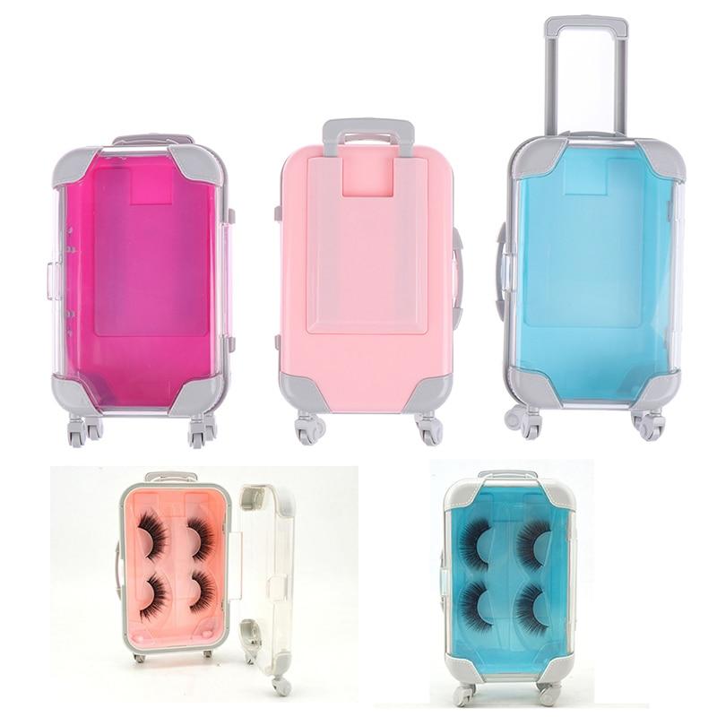False Eyelash Packing Packaging Box Luggage Box Tray Eyelashes Storage Empty Lash Case Makeup Storage Organizer For Travel