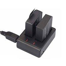USB двойное зарядное устройство+ 2 шт литий-ионная аккумуляторная батарея для камеры Eken H9 H9 Pro Спорт экшн-камера мода
