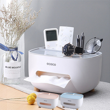 Napkin Holder Household Living Room Dining Room Creative Lovely Simple Multi Function Remote Control Storage Tissue Box