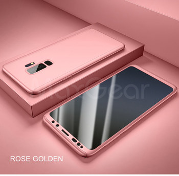 360 Full Cover Protective Case+Glass For Samsung Galaxy S20 Ultra S8 S10 S9 Plus Note 10 S 7 A50 A70 A71 A51 A40 S6 S7 Edge A 70 - For NOTE 9, Rose gold