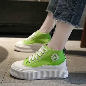 Image 5 - SWYIVY بولي ivy Chaussure فام جديد حذاء كاجوال امرأة أحذية رياضية 2020 الربيع منصة أحذية رياضية للنساء موضة الأخضر السيدات حذاء 39
