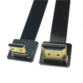 25pcs 90 Degree Angled FPV HDMI Male to Mini HDMI Male FPC Flat Cable 80cm for Multicopter Aerial Photography A2-C2 80cm Cable
