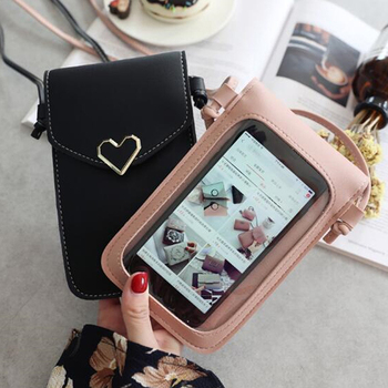 Touch Screen Cell Phone Purse Smartphone Wallet Leather Shoulder Strap Handbag Women Bag For Iphone X Samsung Coin Purse