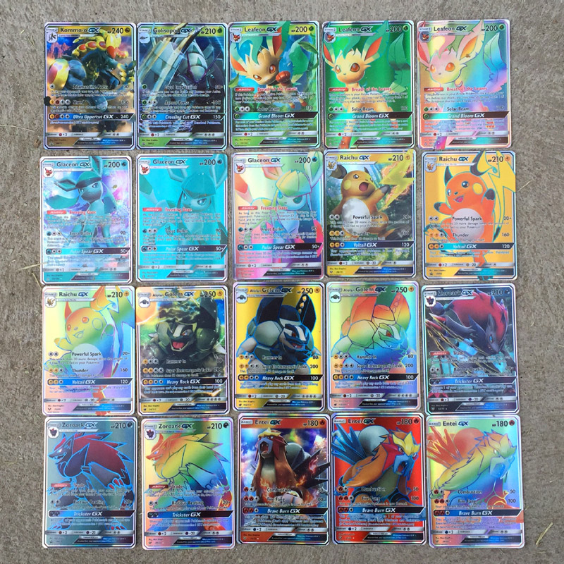 200pcs Flash Trading Battle GX MEGA EX English Card Game Fight Charizard Venusaur Blastoise Rare Collect Kid Gift Xmas Game Toy