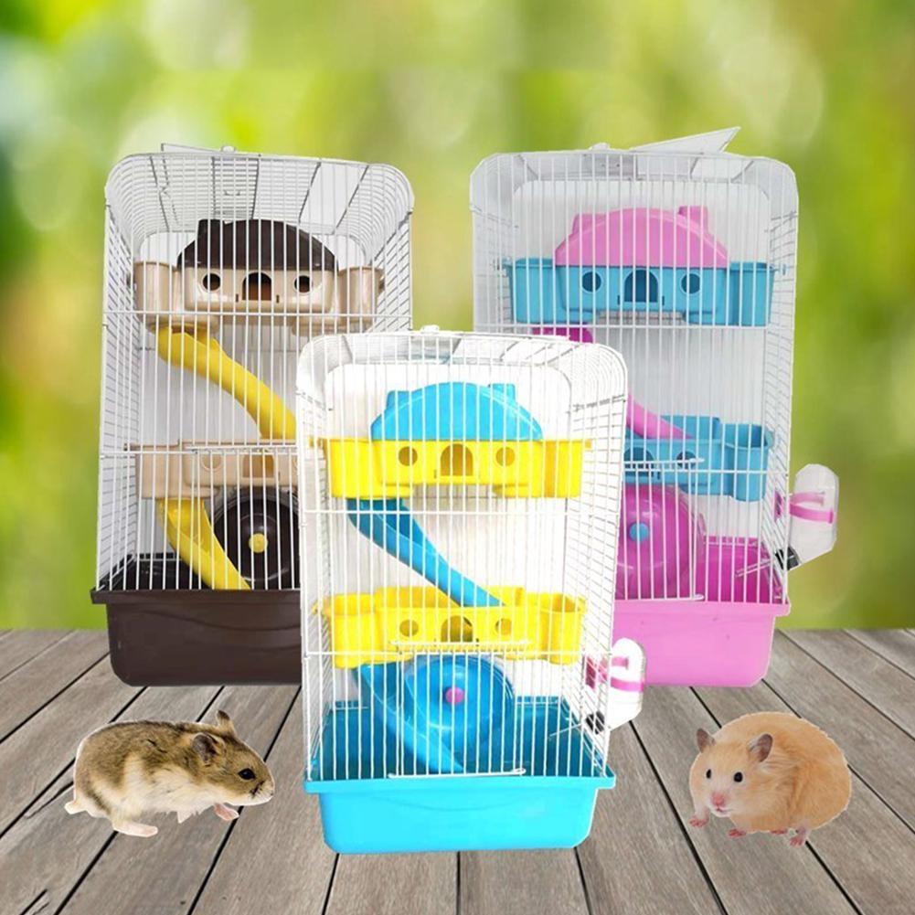 Hamster Cage Hamster Villa Hamster Supplies Three-tier Hamster Cage Hamster Luxury Cage Villa Heightening Villa