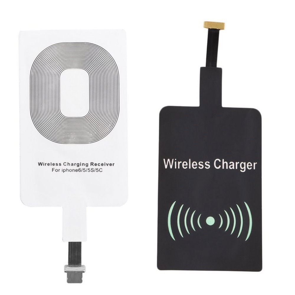 QI Wireless Charger Receiver for iPhone 6 6s 5 5C Samsung S6 Edge Xiaomi Charger Receiver Universal Portable for ios micro usb