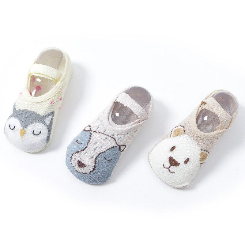 [Animal Floor Socks] For Anti-slip Anti-Off-heel Cartoon Children Floor Socks 1-3-5-Year-Old