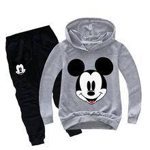 Spring Mickey Minnie Boys Girls Clothing Sets Autumn Casual Teenage Lo