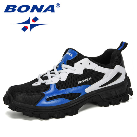 BONA 2019 New Designer Outdoor Men Cow Split Hiking Shoes Men Sport Shoes Trainers Shoes For Men Training Jogging Sneakers Shoes Pakistan