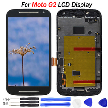 Tested Display for Moto G2 LCD Display Touch Screen Digitizer Assembly XT1063 XT1064 XT1068 Lcd Frame For Motorola XT1069 LCD 5pcs original lcd digitizer with frame replacement for motorola moto g2 xt1063 xt1068 xt1069 display with touch screen assembly