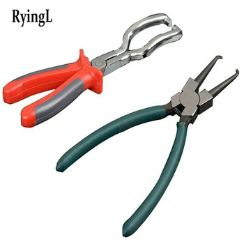 2pcs Fuel Line Petrol Clip Pliers Pipe Hose Release Disconnect Removal Separator Car Repair Tool Connector Filter Remover car clip plier hose clamps pliers angled swivel locking car pipe hose clamp pliers fuel coolant clip tool car hose removal tool