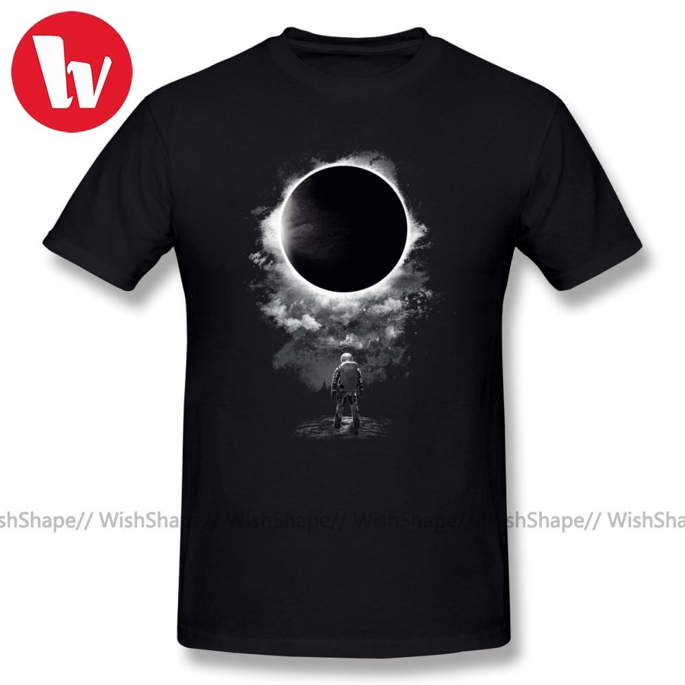 Eclipse T-Shirt Men Cartoon Print 100 Percent Cotton T Shirts Summer Short Sleeve Funny T Shirt Awesome Casual Tee Shirt 4XL