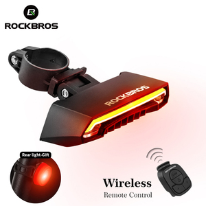 ROCKBROS Bicycle Light LED USB Rechargeable TailLight Warning Bike Rear Lights Smart Wireless Remote Control Turn Signal Light(China)