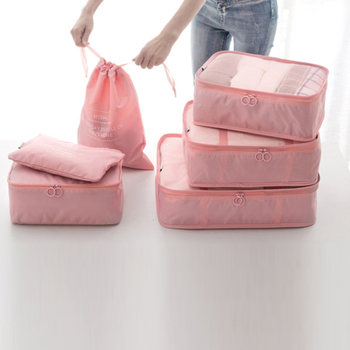 New Travel Packing Cubes - 6 Sets Luggage Organiser Storage Bags Suitcase Compression Pouches