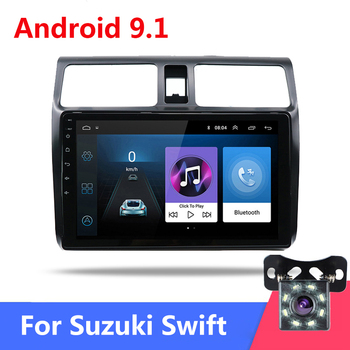 2 Din Autoradio 10.1 Android 9.1 Mirrorlink Car Radio Bluetooth Car Multimedia FM USB AUX Auto Audio Stereo for Suzuki Swift image