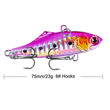 1Pcs Metal Vib Fish Bait 7.5cm 23g Sinking Sea Fishing Jigging Lure Swimbait Wobbler Jig