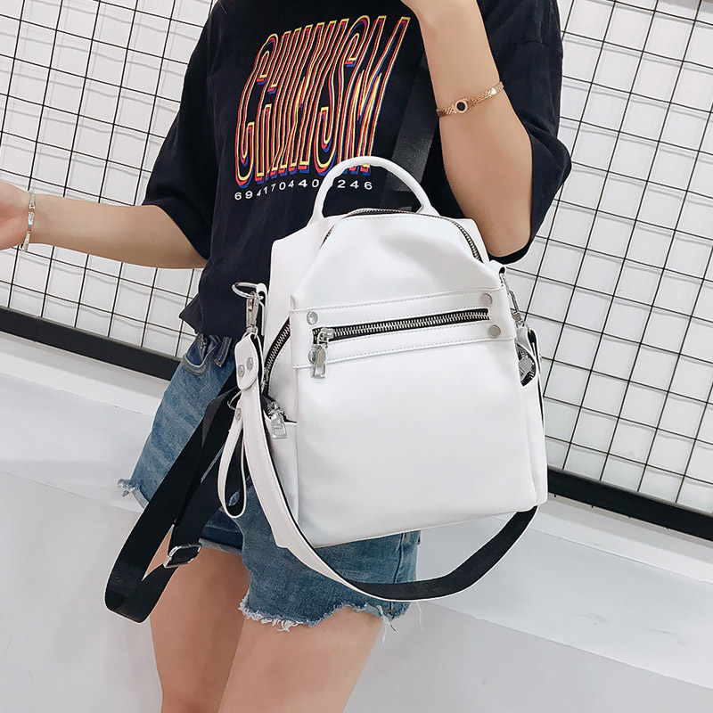 Women Backpack Female 2019 Designer PU Leather Backpacks Fashion Multi-purpose Ladies Small Backpack Travel Bag For Girl Satchel