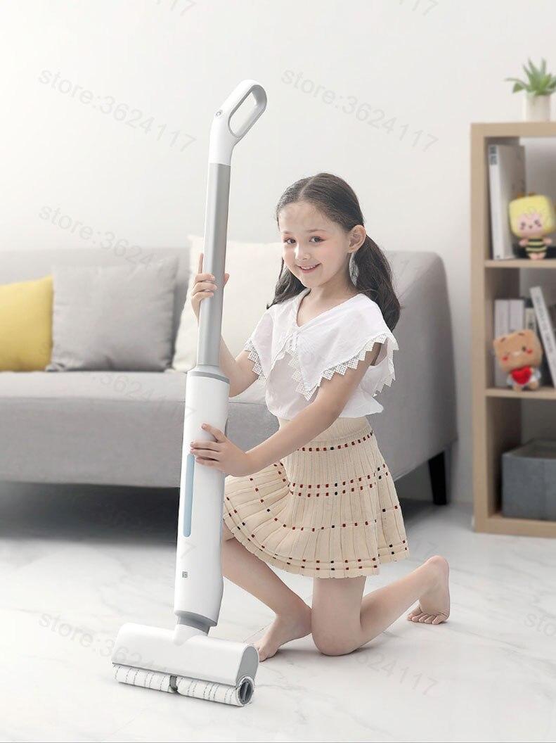 Youpin micro-molhado mop elétrico escova de rolamento