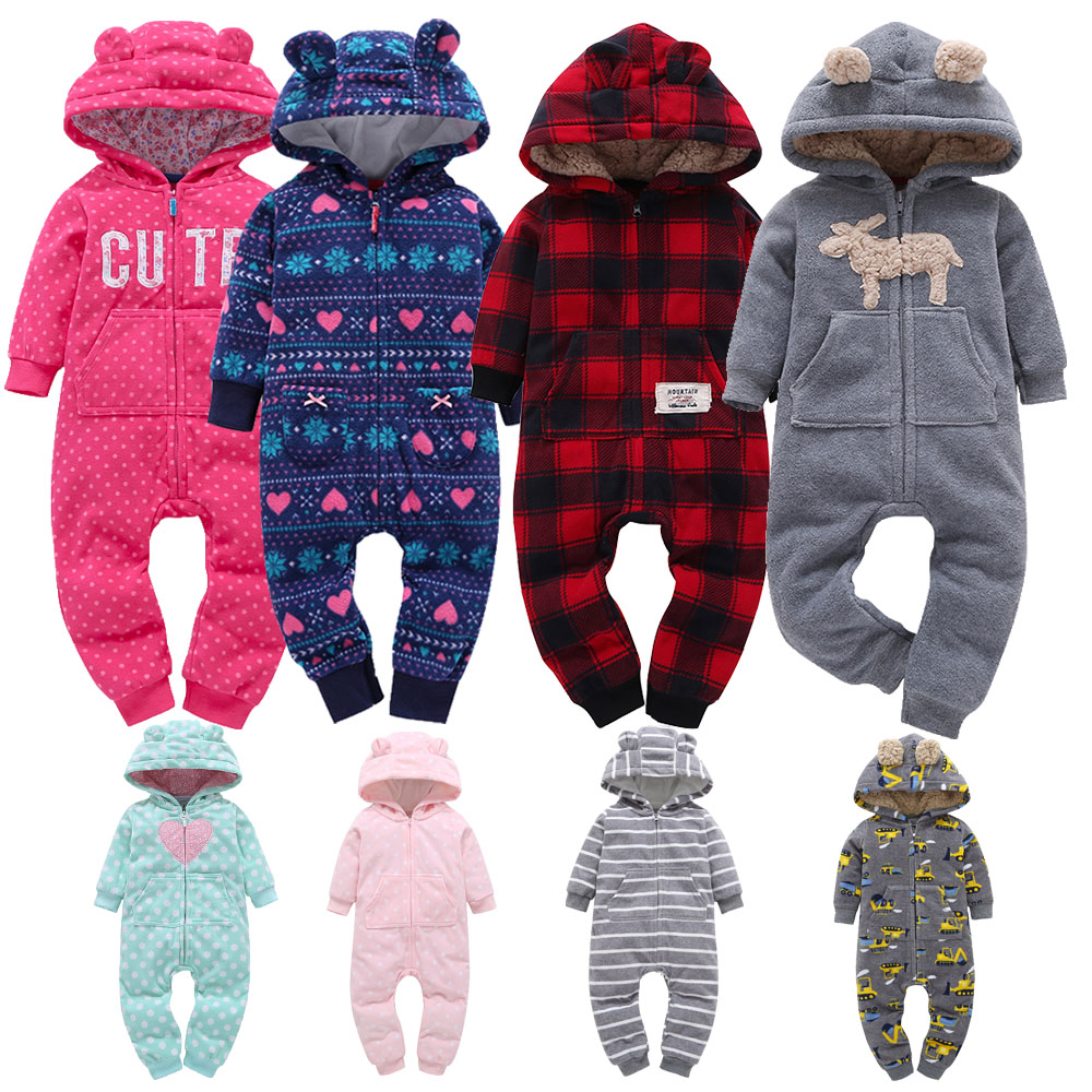 2019 Spring Baby   Rompers   Soft Fleece Baby Girl Clothes One- Pieces Animal Baby Overall Jumpsuit Newborn Baby Boy Clothing Set