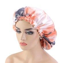 Новая женская Атласная шапочка с принтом в виде галстука красителя