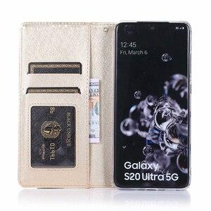 Image 4 - Gizli rotasyon kartları tutucu cüzdan samsung kılıfı not 10 artı 10 + 8 9 S8 S9 S10 artı S7 kenar Flip deri telefon kılıfı kapak