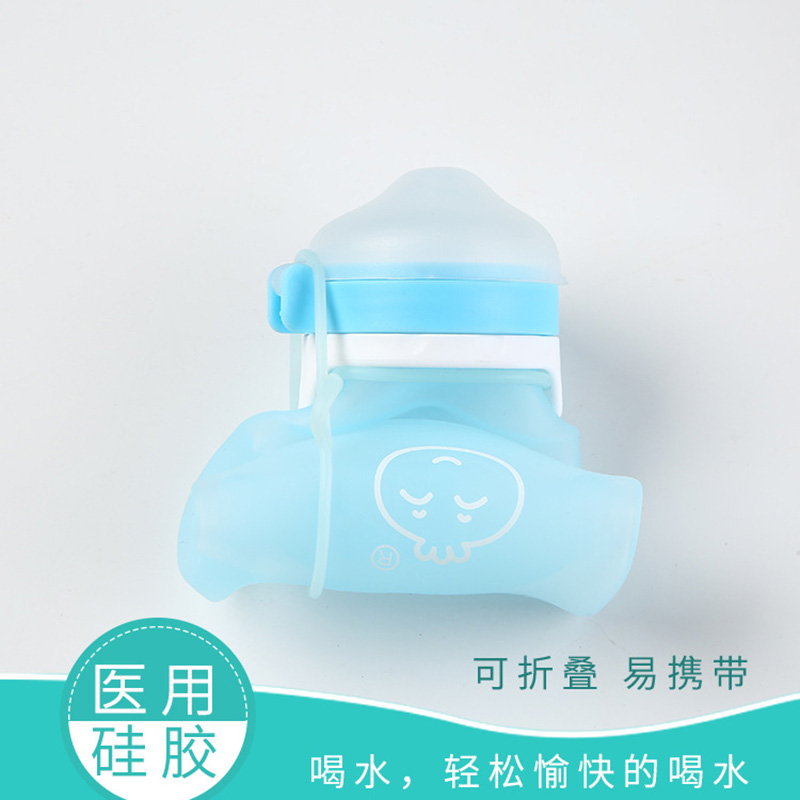 New Style Children Cute Mini Silica Gel Cup Infants Portable Environmentally Friendly Drink Glass Baby Cup