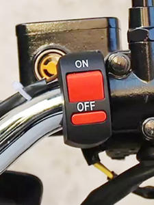 EAFC Flameout-Switch Motor Motorcycle-Handlebar Universal On-Off-Button Black for ATV