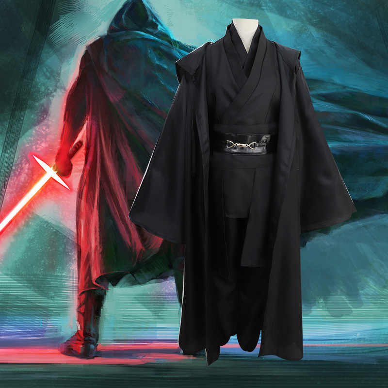 Carnaval Mannen Cosplay Star Wars Uniform Set Jedi Foelie Windu Obi Wan Kenobi Anakin Skywalker Mantel Ahsoka Tano Purim Party kostuum