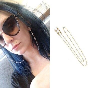 Gafas de sol a la moda, gafas, gafas, cadena, cordón, cordón, collar, gafas de lectura, perlas simuladas, gafas de sol, cadena