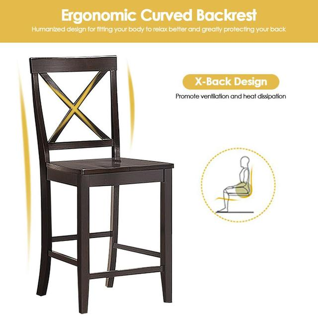 """Set of 2 24"""" Counter Height Barstools 5"""