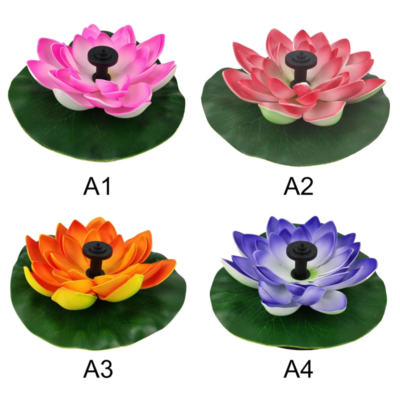 Solar Lotus Fountain Lotus Flower Fountain Fountain Water Pump Courtyard Landscape Colors Garden Fountain Pond Solar Tm
