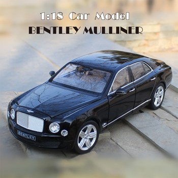 1:18 Alloy Diecast Car Model BENTLEY Mulliner Miniature Collection toy car Model Metal Car Suit Toys for Children Birthday Gift image