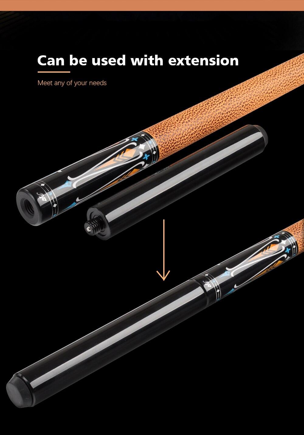 fibra carbono piscina cue eixo 12.5mm kit