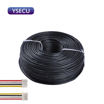 YSECU 4 Wire 10m/15m/20m 4 Pin Cables For Wired Video Intercom Home Doorbell Extension Wire Connect  Video Door Phone