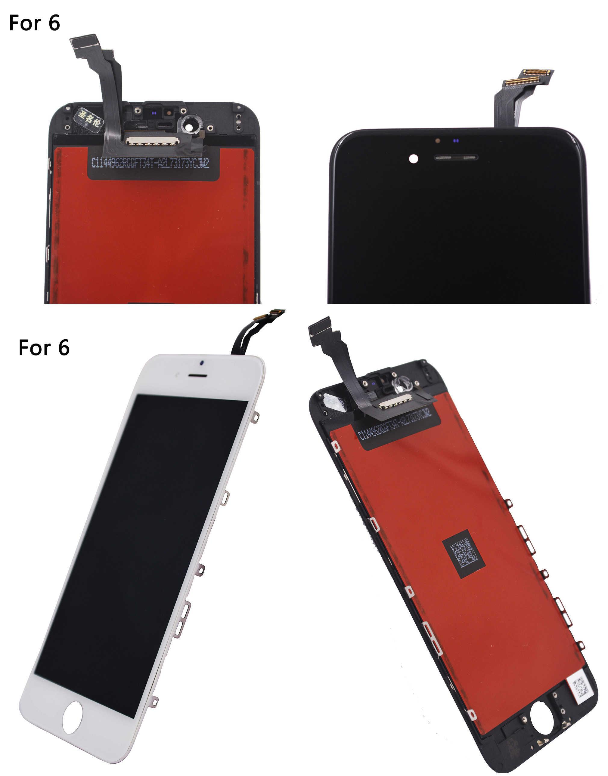 REPUESTO nuevo para iphone 6 lcd Display para iphone 6s LCD Display Touch digitalizador montaje para iphone 5s lcd