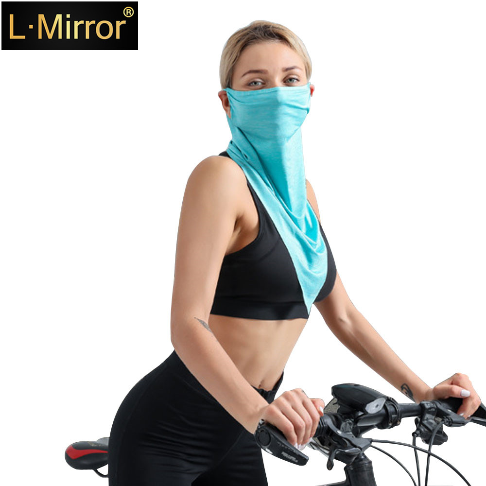 L.Mirror 1Pcs Outdoor Face Mask Neck Gaiter Fishing  Sun Tube Bandana Windproof UV Protection